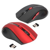 Wholesale 6 Buttons GHz Wireless USB Receiver Optical Mouse Mice for Laptop Computer PC Game