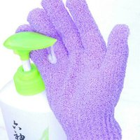 Wholesale Bath Gloves Shower Scrubber Exfoliating Skin Massage Bath Shower Glove Sponge Bath Wash Skin Bathroom Accessories New Style
