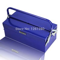 Wholesale folded metal toolbox electrician repair box tool case hardware tool storage box home Tools Packaging