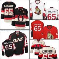 Wholesale Erik Karlsson Jersey C patch Ottawa Ice Hockey Jerseys red home black alternate beige heritage classics black SENS jersey