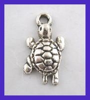 Wholesale Doreen Box Lovely Silver Tone Tortoise Turtle Charm Pendants x24mm B00105