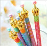 Wholesale Gel pen Crown dream Dot Dots Kawaii Stationery Caneta Novelty favor gift zakka Office supplies material school WJ0115