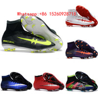 Wholesale 2017 black football soccer shoes mercurial superfly cr7 cleats superflys football boots original soccer cleats mens cristiano ronaldo