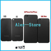 Wholesale Matte Black Housing For iPhone s SE S Plus sPlus Aluminum Metal Back Case Battery Door Cover Replacement Like style