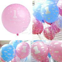 baby christmas tree ornaments - x Baby st Birthday Ballon Party Decor Girl Boy Printed Number Ballons