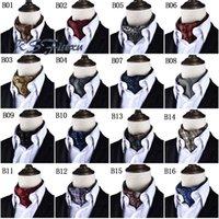 Wholesale Purple Black Dots Woven Tie Fashion Men Long Silk Scarves Cravat Ascot Ties Gentlemen