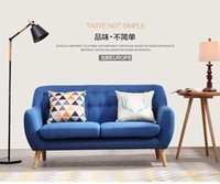 Wholesale Small Family Northern Style Sofa High Quality Cotton and Linen Fabric Low Price Living room Home Settee