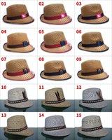 Wholesale New High Quality Vogue Men Women Straw Hats Soft Fedora Panama Hats Outdoor Stingy Brim Caps Straw Hat Stingy Brim Hats