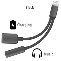 Wholesale Newest in mm Headphone Jack Adapter For iPhone plus s plus Earphone Charger Cable High Quality