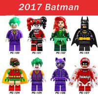 Wholesale 8pcs DC Batman Super Heroes Joker Harley Quinn Robin Poison Ivy Calendar People Building Blocks Models Toys