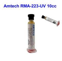 Wholesale BGA solder paste solder flux Solder paste lead free no clean flux original Amtech RMA UV cc Applies to phone PCB PGA SMD rework flux