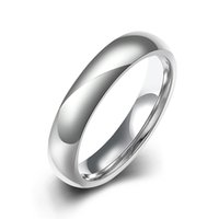 Wholesale Vintage Wedding Ring New Arrival High Polished White Bands Tungsten Carbide Men Rings Jewelry