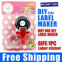 Wholesale 1x Tape Writer for mm self adhesive tape office gift label adhesive tagging gun DIY label maker scrapbooking marker embosser