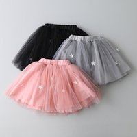 animal tiered skirt - Cute Baby Girls Tulle Tutu Skirt Summer Star Pearl Children Mini Skirts Fashion Gauze Tiered Kids Princess Dance Skirt C183