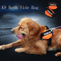 autumn snacks - 1 Pair K9 Dog Harnesses Bags Dogs Snack Bag Coin Purse Green Red Black Orange