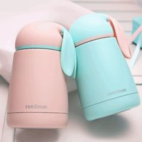 Wholesale Cute Style Colors ML Mini Bunny Rabbit Ear Vacuum Flasks Thermoses Stainless Steel InsulatedThermos Cup Kids Drink Bottle