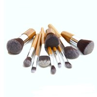 bamboo wood products - Bamboo handle facial makeup brush Cosmetic powder Brush set Synthetic hair Kit Hot selling Product set