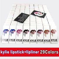 Wholesale 2017 New Colors Kylie Jenner Lip Kit Gloss Lipstick Lipliner Velvet Boxset Matte Liquid Lipstick Long Lasting DHL