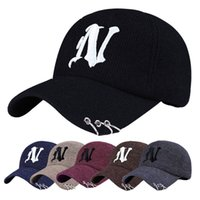 adult basketball hoop - 18 colors N Letter men women MLB baseball cap snapback Hip hop Adjustable hat sport Dad hats High quality unisex Basketball caps have hoop