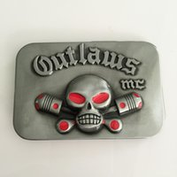 Wholesale Outlaws Skull MC Motorcycle Club Belt Buckle