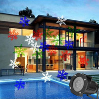 Wholesale Christmas Projection Lights Led Projector Light Outdoor Light Snowflake Spotlight Pattern Sparkling Landscape Lights for Holiday by DHL
