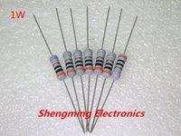 Metal film resistor Baratos-Venta al por mayor 200PCS 1W 4.7K ohmio 4K7 METAL OXIDE FILM resistor TOL.5%