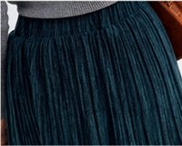 Wholesale New winter pure color pleated skirt of tall waist thickening ms students cultivate one s morality show thin long skirts