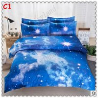 adult sheets - 3D Bedding Sets Top Quality Queen King Size D Galaxy Printed Bedding Sets Geometric Quilt Cover Pillow Case Sheet Sets