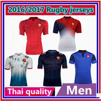 Wholesale New New Zealand rugby jerseys France rugby adult shirts Best Thai quality size S XL