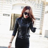 Wholesale 2016 new women s fashion motorcycle leather3