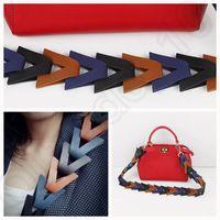 Wholesale Women Weave Hand bag Shoulder Cross body Colorful Shoulder Strap You PU leather Hot Sell LJJO874