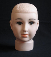 baby mannequins for sale - Freeshipping PC dummy head baby head mannequin for sale doll plastic mannequin hair model head without Wig hat display M00499