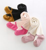 Wholesale Baby Girl Pantyhose Cute Thickening Shoes Terry Socks Soft Baby Girls Tights Socks Children Leggings Cotton