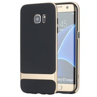 Wholesale S7 Edge Case ROCK Royce Luxury PC Silicone Capa For Samsung Galaxy S7 Edge Case Hybrid Covers Armor Protector Shell Retail box
