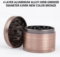 aluminium bronze alloy - New Bronze Grinders mm Herb Grinder Parts Aluminium Alloy Herb Spice Crusher Magnetic Top Individual Box Packed