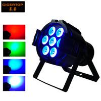 achat en gros de mini-prises de lumière-Freeshipping 7x10W RGBW Aluminium Led Par Light Silent Cooling Fan Mini scène Led Par 32 Projecteur 3pin DMX IN / Out Socket RGBW 4 Color Mixing