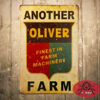 antique farm tractors - T Ray Another Oliver Farm Tin Metal Sign Finest in Farm Machinery Tractor Retro