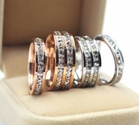 Wholesale HOT K rose gold plated rings for women and men golden full cz diamond couples rings for lovers wedding Finger Rings jewelry
