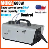60 Min artificial snow maker - 600W Snow Machine Artificial Snow Maker remote control wire control for professional stage DJ equipment Snow Blower Machine
