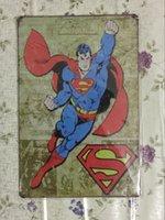 Superman Super Héros Vintage Decorative Craft Tin Sign Rétro peinture en métal Antique Affiche Bar Pub Signs Wall Art