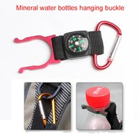 aquarius water - RL21 Outdoor Compass Sign Buckles Circular Carabiner Bottle Button Compass Aquarius Hanging For Mountain Mineral Water Bottles