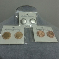 best deals seller - Best Seller Triple Colors Daily Deals Trendy Girls Jewelry Gift Post Small Pearl Monogrammed Stud Earrings