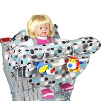 Wholesale Portable Baby Supermarkets Trolleys Wraps Covers Children Shopping Carts Seats Wrap Cover Kids Dining High Chair Cotton Covers