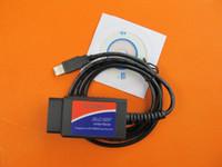 Wholesale ELM327 V1 Plastic OBDII EOBD CANBUS Software Scanner Automotive OBD2 Scan Tool ELM V USB