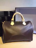 Wholesale SPEEDY Ladies Luxury Damier Ebene Canvas Women Handbag high quality tote bags famous classical designer brand day clutch bag purse