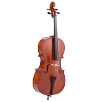 Wholesale Full Size Wooden Cello Gloss Finish Basswood Face Board with Bow Rosin Carrying Bag for Students Music Lovers
