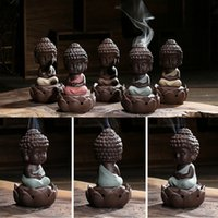 Wholesale Hot Statue Buddha Incense Disc Ceramic Incense Cones Incense Burner Sandalwood china Handicrafts WC226 W0
