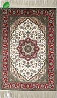 achat en gros de prix d'usine des fleurs de soie-YISI tapis en soie artisanale rose simple fleur chambre salon tapis tapis de tapis 2x3ft-61x91cm à prix d'usine sans frais d'expédition dans le monde entier