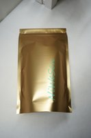 aluminium coffee beans - 10x15cm pca X Matte gold Stand up Aluminium foil Zip Lock bag resealable zipper coffee bean bags standing Lollipops cookie pouch