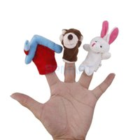 Wholesale Set of Finger Puppets Wolf and Rabbit